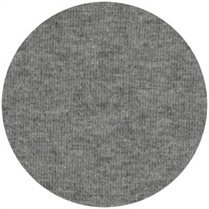 Fabricworm Jersey KNIT, Organic Solids, Heathered Gray