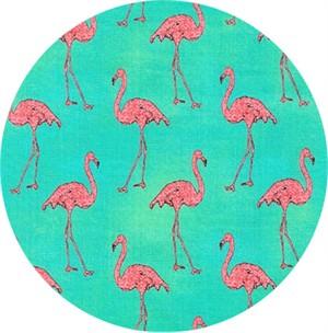 Robert Kaufman, Beach Divas, Fancy Flamingos Cabana