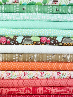 Stacy Iest Hsu for Moda, Farm Fun in FAT QUARTERS 13 Total