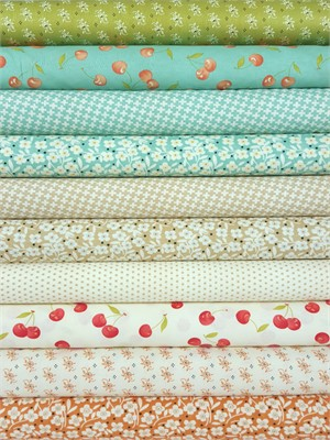 Fig Tree & Co., Farmhouse, Spring in FAT QUARTERS 10 Total