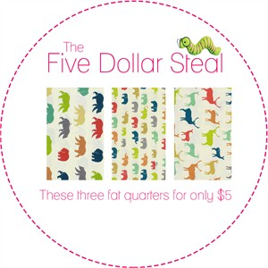 Five Dollar Steal, Multi Mammals in FAT QUARTERS 3 Total