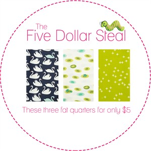 Five Dollar Steal, Popular Pond in FAT QUARTERS 3 Total