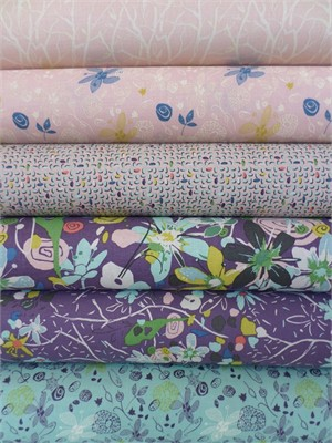 Felicity Miller, Botanica, Eminence 6 FAT QUARTERS in Total