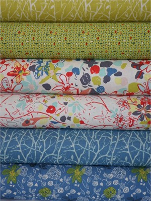Felicity Miller, Botanica, Lapis 6 FAT QUARTERS in Total