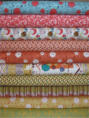 Felicity Miller, Charleston Farmhouse, Zinni in FAT QUARTERS 10 Total (PRE-CUT)