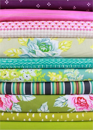 Fabricworm Custom Bundle, Festival Floral in FAT QUARTERS 10 Total