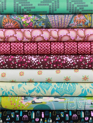 Anna Maria Horner for Free Spirit, Fibs and Fables, Gallant in FAT QUARTERS 8 Total