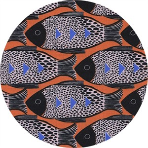Sarah Watts for Cotton and Steel, Magic Forest, Fish Orange