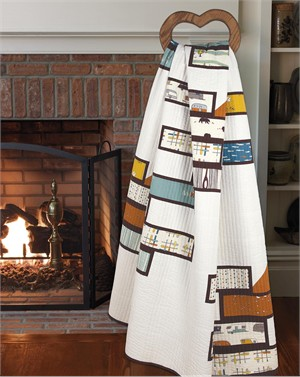Fire Stacks Quilt Kit for Quilt Trends Winter Issue