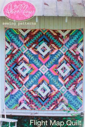 Anna Maria, Sewing Pattern, Flight Map Quilt