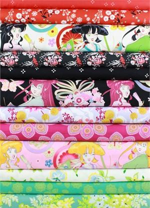 Fabricworm Custom Bundle, Floral Ladies in FAT QUARTERS 12 Total