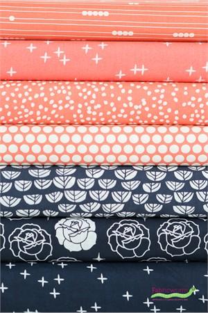 Fabricworm Custom Bundle, ORGANIC, Floral Panache 7 Total