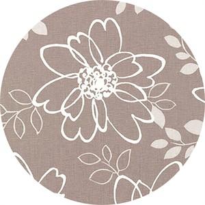 Sevenberry for Robert Kaufman, Cotton/Flax Prints, CANVAS, Floral Sketch Ash