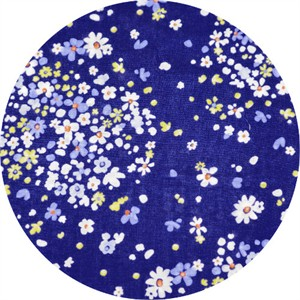 Japanese Import, DOUBLE GAUZE, Floral Sprawl Royal