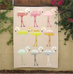 Elizabeth Hartman, Sewing Pattern, Florence Flamingo Quilt