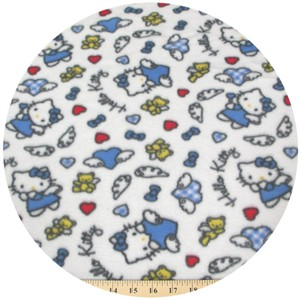 Fleece, Printed, Hello Kitty, Angel Wings Blue