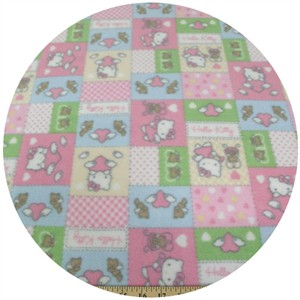 Fleece, Printed, Hello Kitty, Box Pastel