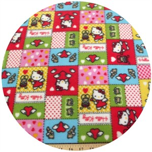 Fleece, Printed, Hello Kitty, Box Red