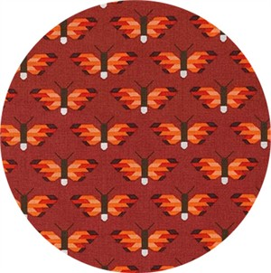 Elizabeth Hartman for Robert Kaufman, Pacific, Flutter Flame