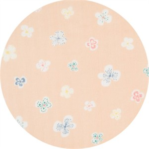 Japanese Import, DOUBLE GAUZE, Fluttering Flower Blush