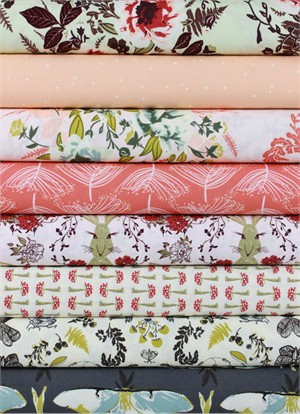 Bonnie Christine for Art Gallery, Forest Floor in FAT QUARTERS 8 Total