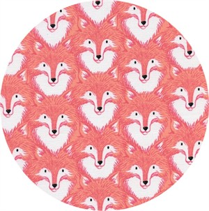 Sarah Watts for Cotton and Steel, Magic Forest, Foxes Coral