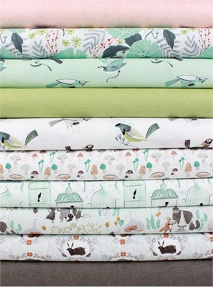 Rae Ritchie for Dear Stella, Foxtail Fern/Perch in FAT QUARTERS 10 Total