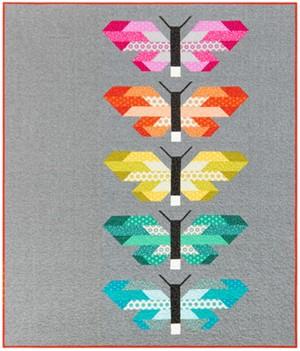 Sewing Pattern, Elizabeth Hartman, Frances Firefly Quilt Kit