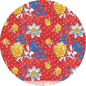 Molly Hatch for Blend, French Hen, Dotty Fleur Red