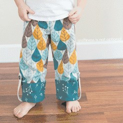 Free PDF Pattern & Tutorial: Charley Harper Pajama Pants by Craftiness Is Not Optional