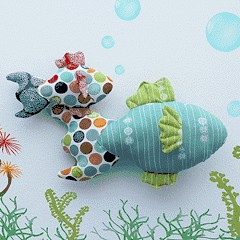 Free PDF Pattern & Tutorial: Pond Fishie Plushie by Christina McKinney