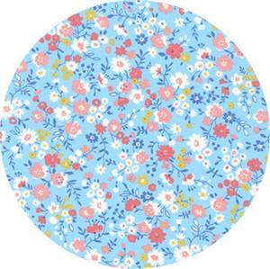 Sevenberry for Robert Kaufman, Petite Garden May Flowers, Full Bloom Sky