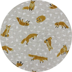 Cosmo Textiles, CANVAS, Furtive Foxes Natural