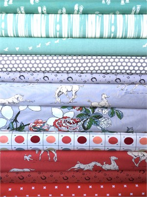 Fabricworm Custom Bundle, Galloping Around in FAT QUARTERS 11 Total