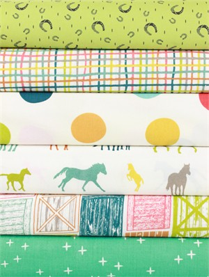 Fabricworm Custom Bundle, Galloping in FAT QUARTERS 6 Total