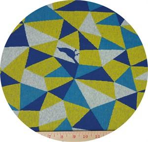 Echino, KNITTED JACQUARD, Geo Bird Yellow