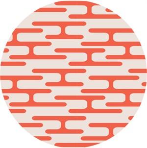 Jessica Jones for Cloud9, Holding Pattern, BARKCLOTH, Get Lost Orange