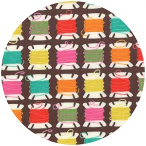 Gina Martin for Moda, Sewing Box, Threads Chocolate