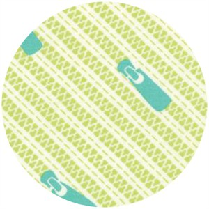 Gina Martin for Moda, Sewing Box, Zippers Lime