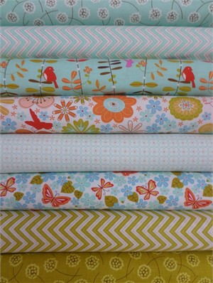 Gina Martin for Moda, Wrens & Friends, Sprout in FAT QUARTERS 8 Total