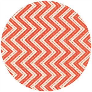 Gina Martin for Moda, Wrens & Friends, Chevron Tangerine