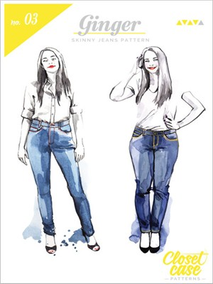 Closet Case, Sewing Pattern, Ginger Skinny Jeans