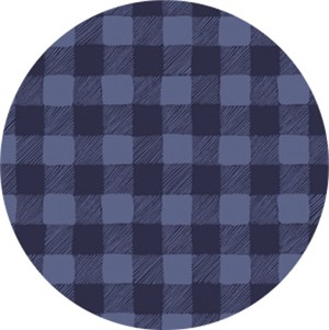 Rae Ritchie for Dear Stella, Trail Mix, Gingham Navy