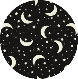Timeless Treasures, Glow-In-The-Dark Crescent Moon & Stars Black