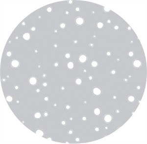 Rae Ritchie for Dear Stella, Moon Garden, Glowing Dots Grey