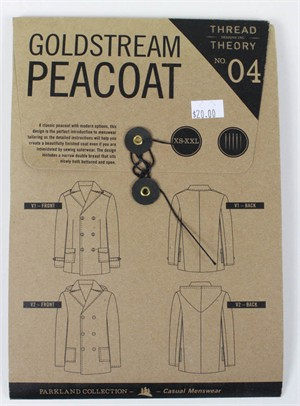 Thread Theory, Sewing Pattern, Goldstream Peacoat
