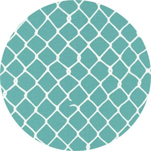 Latifah Saafir for Hoffman Fabrics, Grafic, Chain Link Aqua