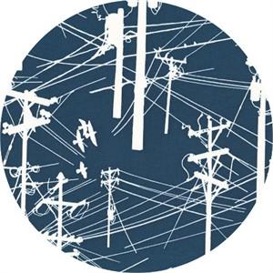 Latifah Saafir for Hoffman Fabrics, Grafic, Power Lines Navy