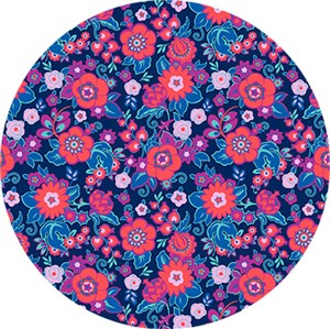Amy Butler for Free Spirit, Soul Mate, Grand Bouquet Cherry