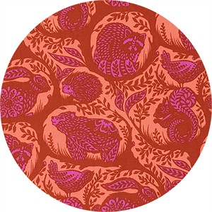 Tula Pink for Free Spirit, Slow & Steady, Grandstand Orange Crush